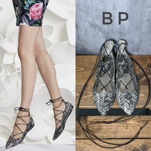 BP Katrina pointed toe Ghillie Lace-Up flats 🦓